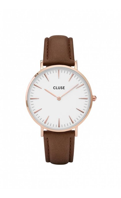 Cluse La Boheme Rose Gold White Brown