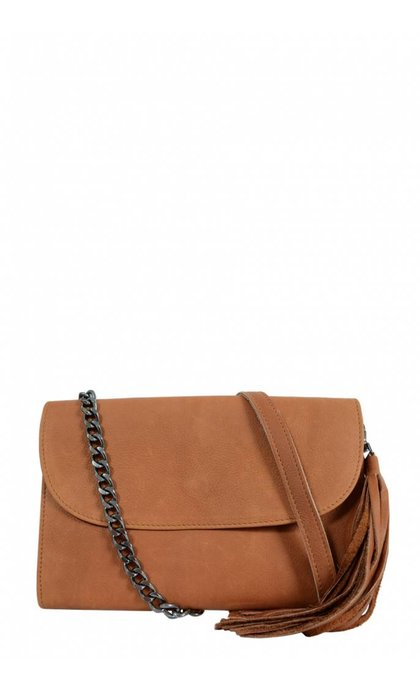Elvy Laurie Wallet Bag Cuoio