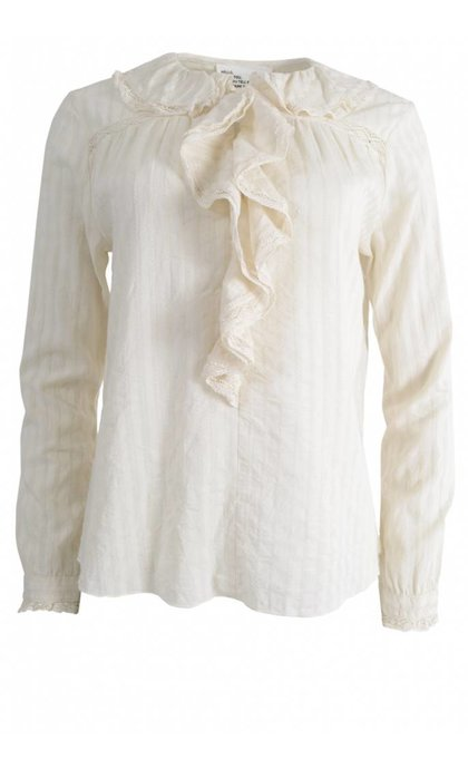 Leon & Harper Chloe TC35 Lace Top Off White