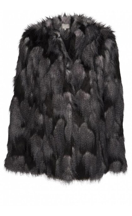 Minus Beverly Fur Coat Black