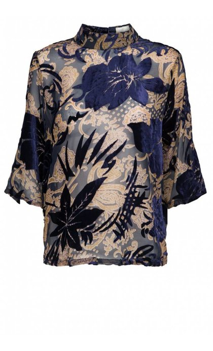 Minus Nikita Flock Blouse Flower Burn Out