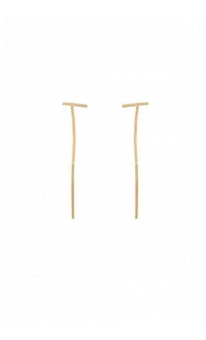 Anna + Nina Twig Chain Earring Goldplated