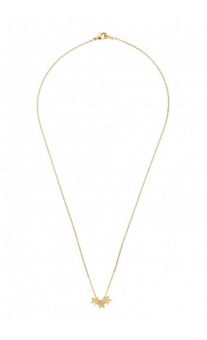 All the Luck in the World Elements Necklace Three Stars Goldplated