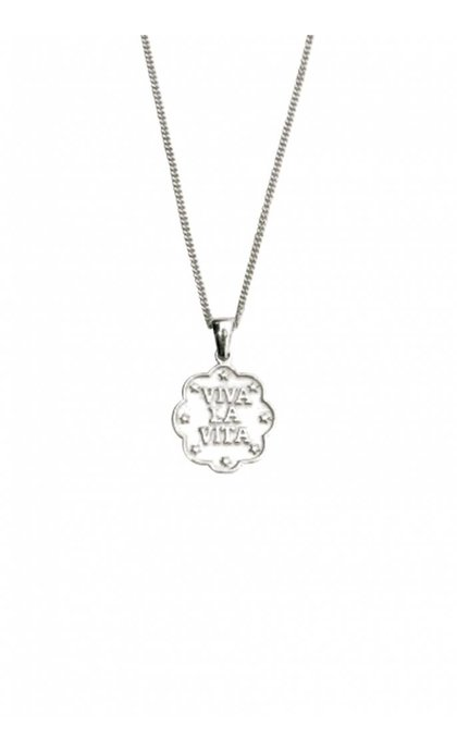 Lobi Viva la vita Necklace with stars Silver