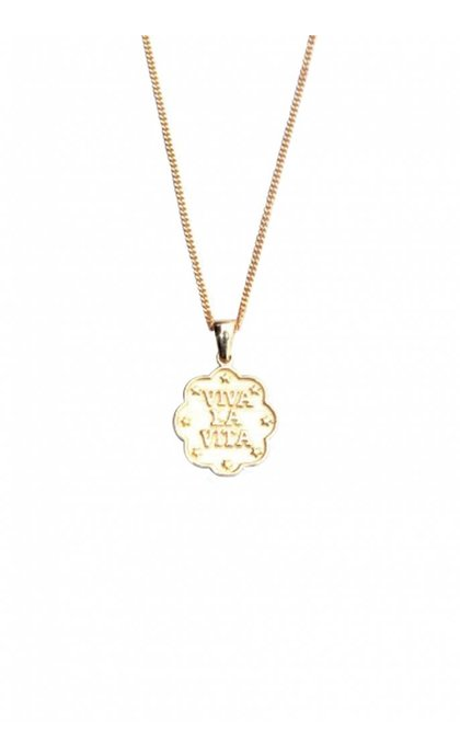 Lobi Viva la vida Necklace with stars Goldplated