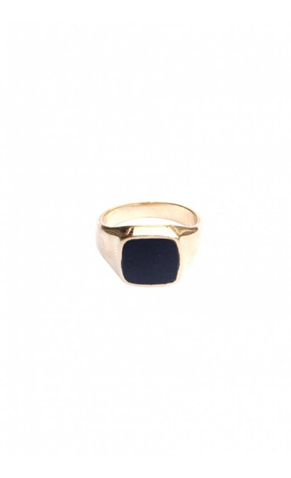 Lobi Signet Pinky Ring Goldplated