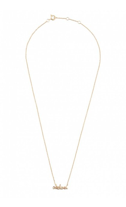 All the Luck in the World Urban Necklace Okdoei Goldplated
