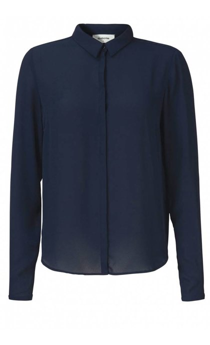 Modstrom Cyler Collar Shirt Navy Night