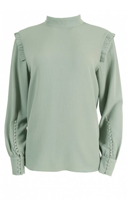Second Female Kruse Blouse Chin Green