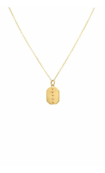 Wildthings Collectables Tag Necklace Goldplated