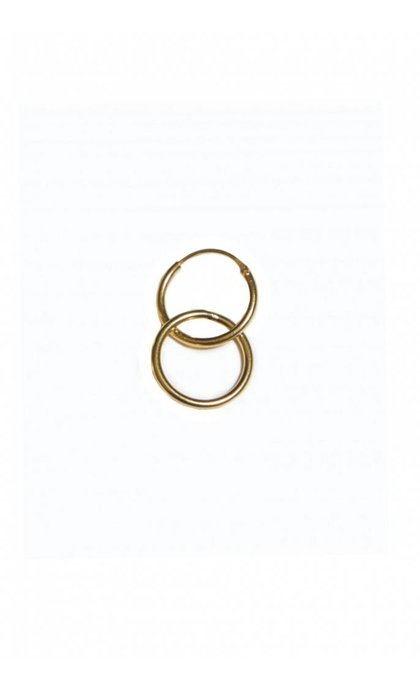 Fashionology Ring Hoop Earring Goldplated