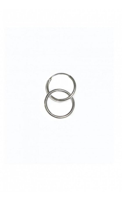 Fashionology Ring Hoop Earring Silver