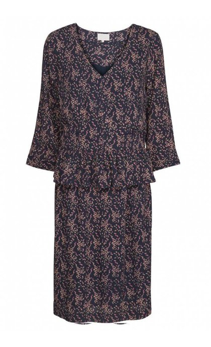 Minus Harlow Dress Confetti Print Black Iris