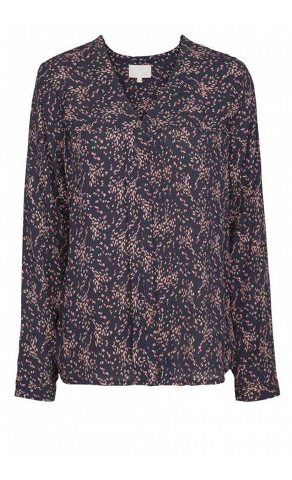 Minus Lindsey Shirt Confetti Print Black Iris