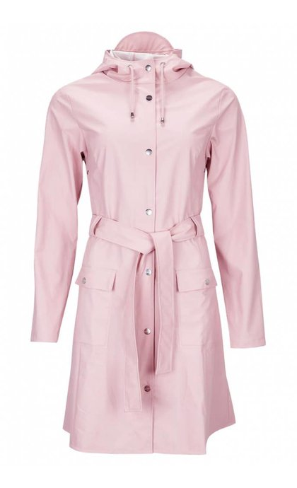 Rains Curve Jacket Rose