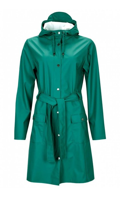 Rains Curve Jacket Dark Teal