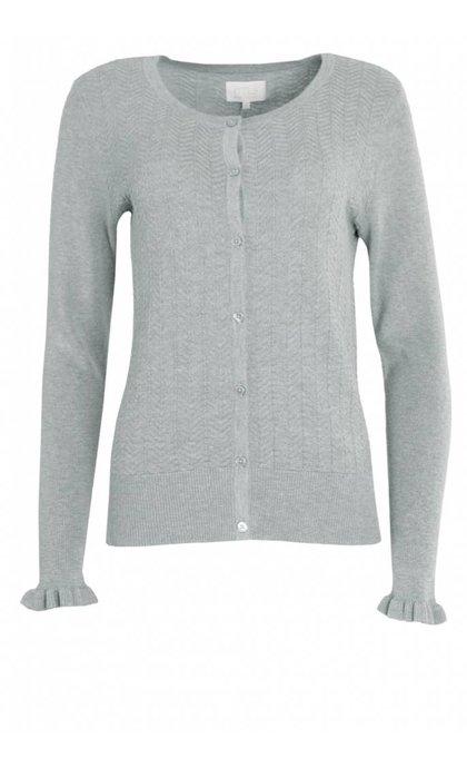 Minus Linnea Knit Cardigan Frost Grey Melange