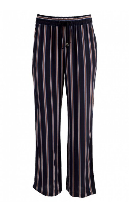 Minus Ebba Pants Brown Striped