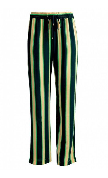 Minus Ebba Pants Green Striped