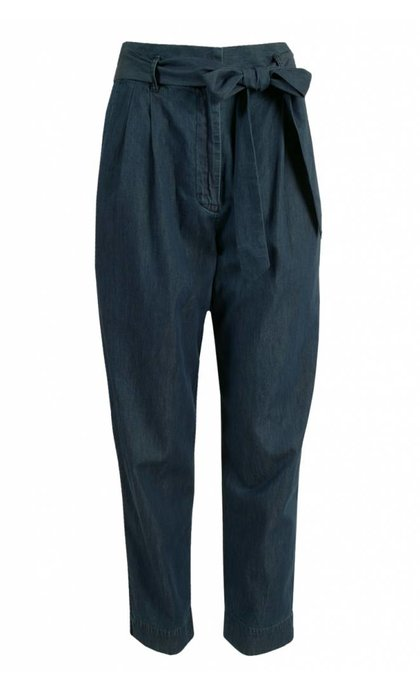 French Connection Geada Light Denim Indigo Tapered Trousers