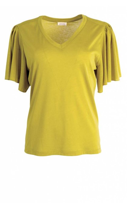 Alchemist Lyocell Mix Top Flair Sleeves Ocre