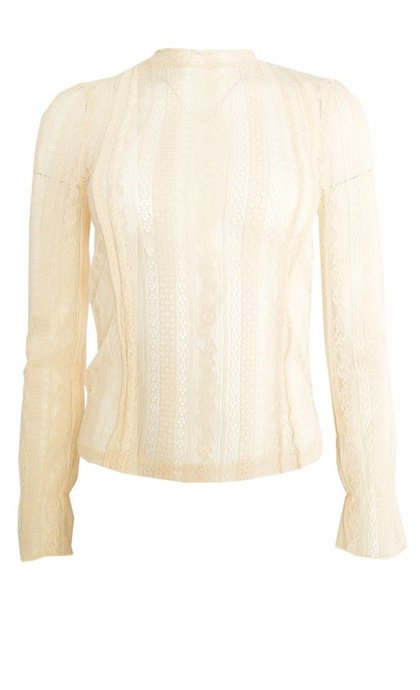 Amuse Society All About That Lace Knit Top Sand Dollar