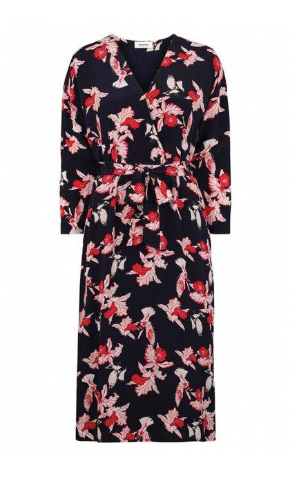 Modstrom Fedora Print Dress Scarlet Flower