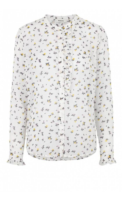 Modstrom Felone Print Shirt Lemon Drops
