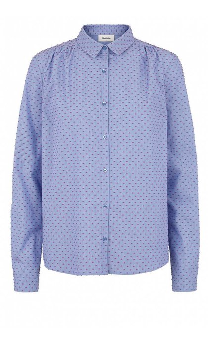 Modstrom Filucca Shirt Blue/Rose Dot