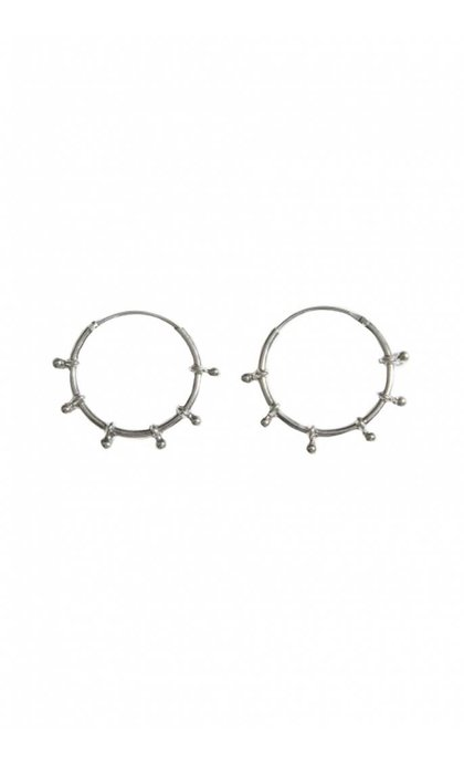 Fashionology River Hoop Earrings 20mm Sterling Silver