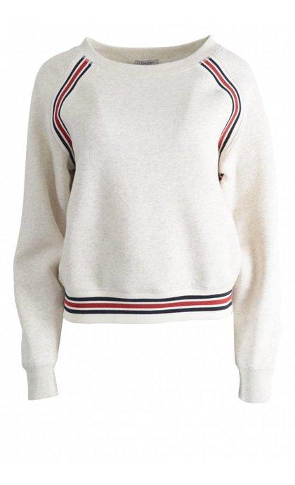 Hunkydory Delta Fleece Sweatshirt Off White Melange