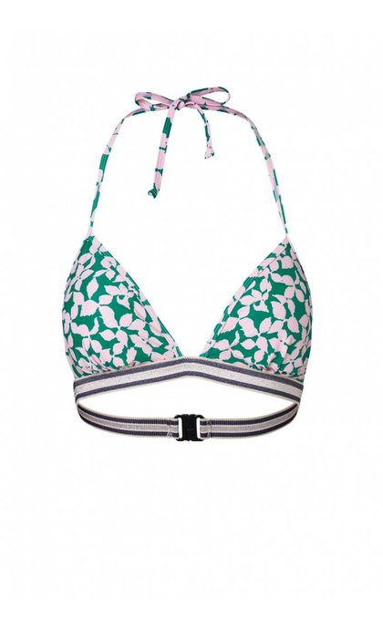 Becksondergaard Two-Piece Flourish Bikini Top Pepper Green