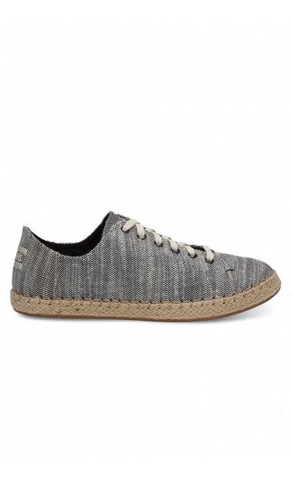 Toms Lena Black Slubby Cotton Sneaker
