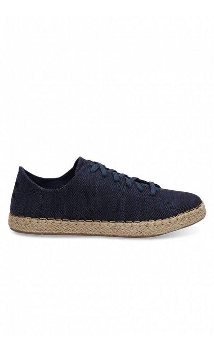 Toms Lena Navy Slubby Cotton Sneaker
