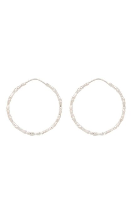Anna + Nina Bones Hoop Earring Silver