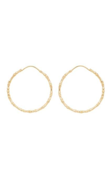 Anna + Nina Bones Hoop Earring Goldplated