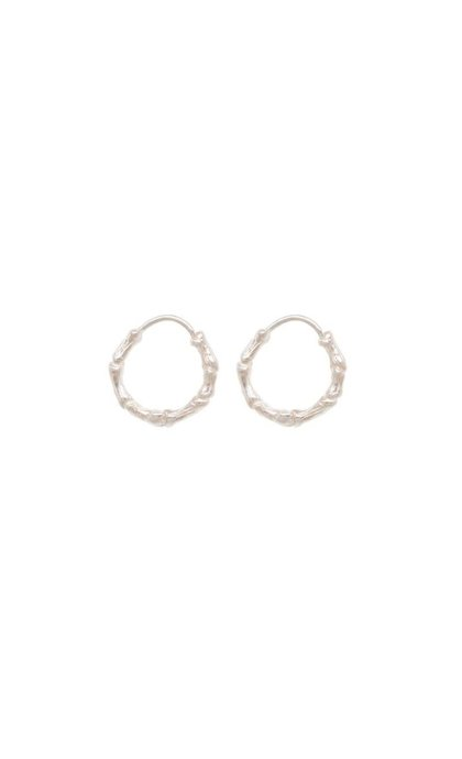 Anna + Nina Bones Ring Earring Silver