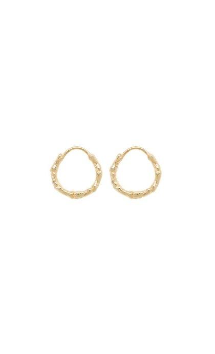 Anna + Nina Bones Ring Earring Goldplated