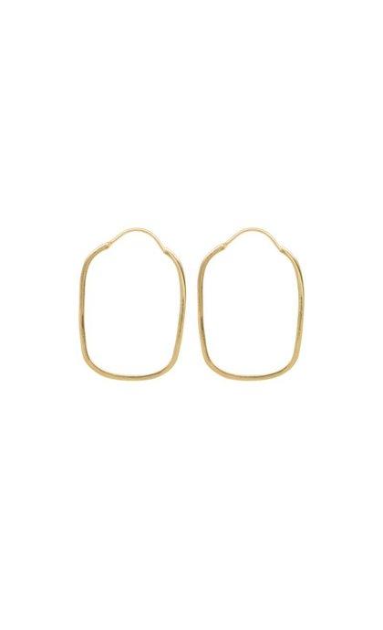 Anna + Nina Link Hoop Earring Silver Goldplated