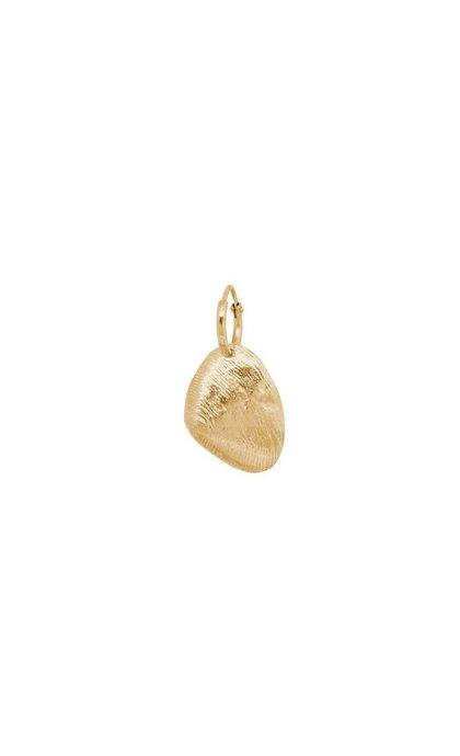 Anna + Nina Single Petal Shell Ring Earring Goldplated