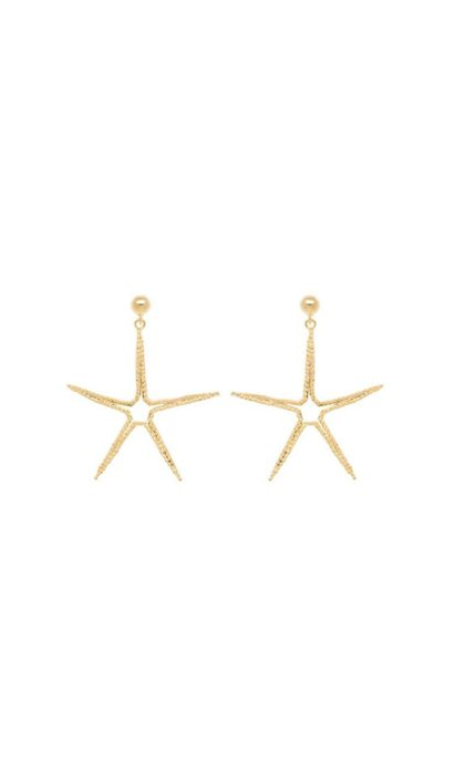 Anna + Nina Starfish Earring Silver Goldplated