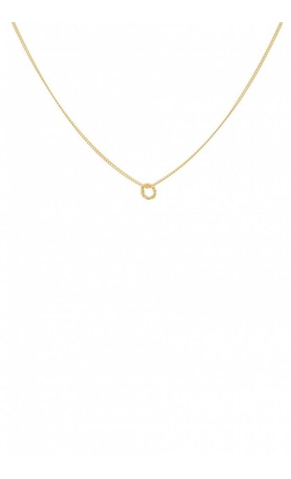 Anna + Nina Rope Necklace Silver Goldplated