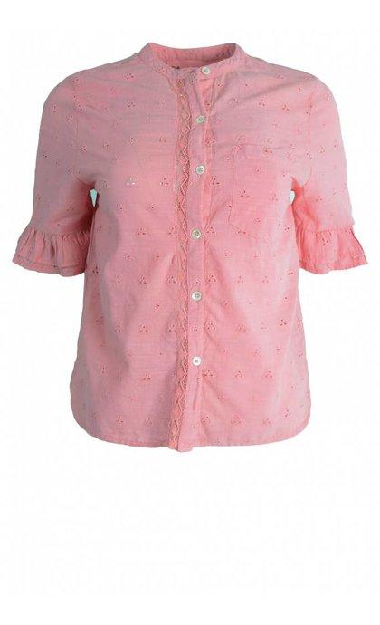 Leon & Harper Chemin Blouse Lace Pink
