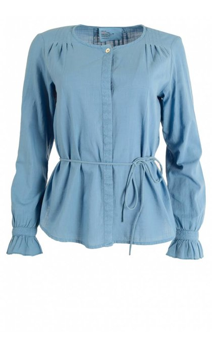Leon and Harper Coral Blouse Brode Blue