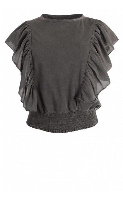 Leon and Harper Tabata T-Shirt Silk Carbone