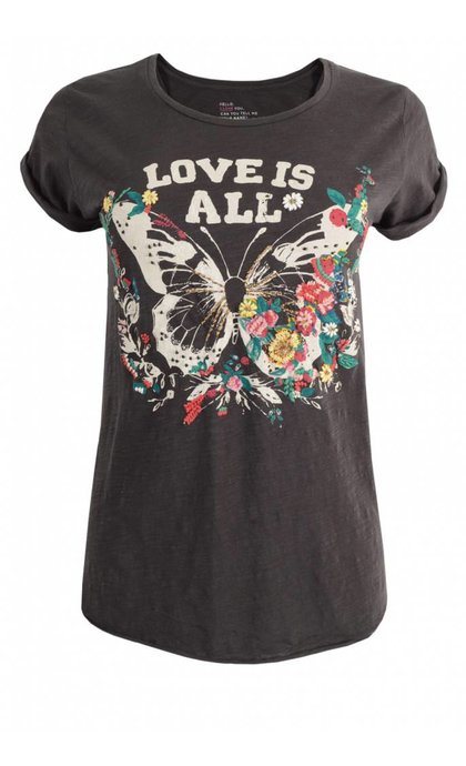 Leon and Harper Tova T-Shirt Papillon Carbone