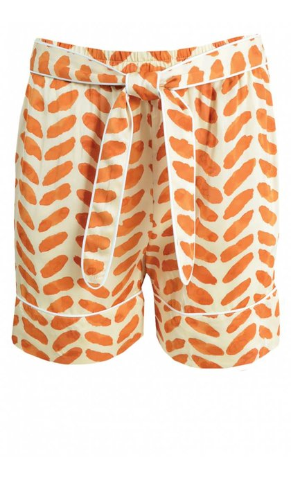 Second Female Stroke Shorts Orange Rust