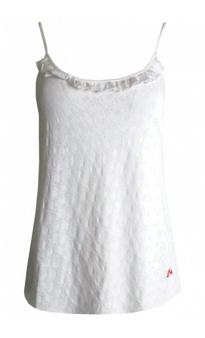 Leon and Harper Dona Singlet Pointel White