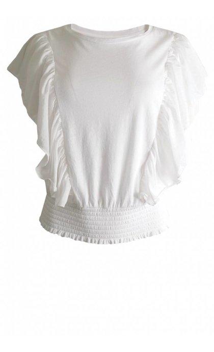 Leon & Harper Tabata T-Shirt Silk White