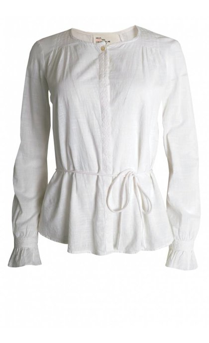 Leon and Harper Coral Blouse Brode White